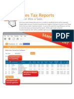 Sales Tax Report Sample