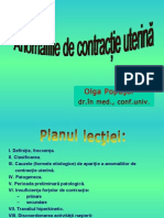 Anomaliile de Сontractie Uterina - O. Popusoi