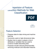 ion of Feature Selection Methods for Web Classification