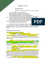 Language III - First Half Summary