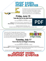 JH Summer Events 2012
