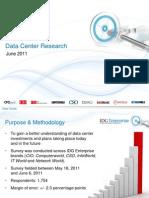 IDG Enterprise Data Center Survey 2011