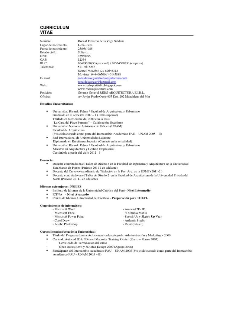 Único Currículum De Ingeniero De Taller Cresta - Ejemplo De ...