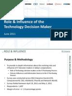 IDG Enterprise 2011 Role & Influencece Survey