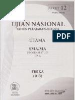 Naskah Soal Prediksi Un Fisika Sma 2012 Paket 12