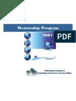 Mentor Ship Brochure