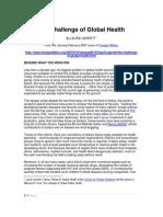 Challenge of Global Health