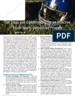 10 Steps and Commitments  For an Effective Youth Sports Concussion Program