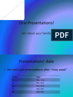 Family Presentation Guide-lines