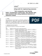 As 1289.5.4.3-2006 Methods of Testing Soils for Engineering Purposes Soil Comp Action and Density Tests - Comp