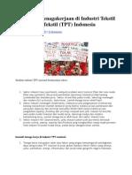 Masalah Ketenagakerjaan Di Industri Tekstil Dan Produk Tekstil
