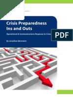 Crisis Preparedness Ins and Outs - White Paper