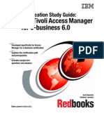 Certification Study Guide IBM Tivoli Access Manager for E-business 6.0 Sg247202