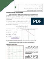Retas tangentes, taxas de variação e derivada