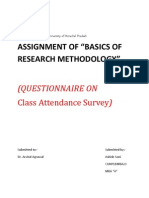 Assignment of Research