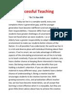 Succesful Teaching