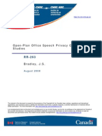 Open-Plan Office Speech Privacy Case Rr263