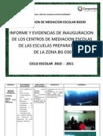 Reporte y Evidencias de Los Centros de Mediacion Bg030