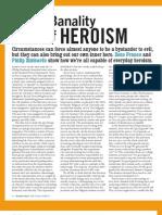 The Banality of Heroism - Franco & Zimbardo 2006-2007 - Greater Good