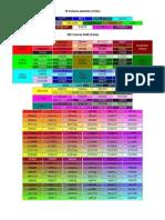 16 Colores estandar