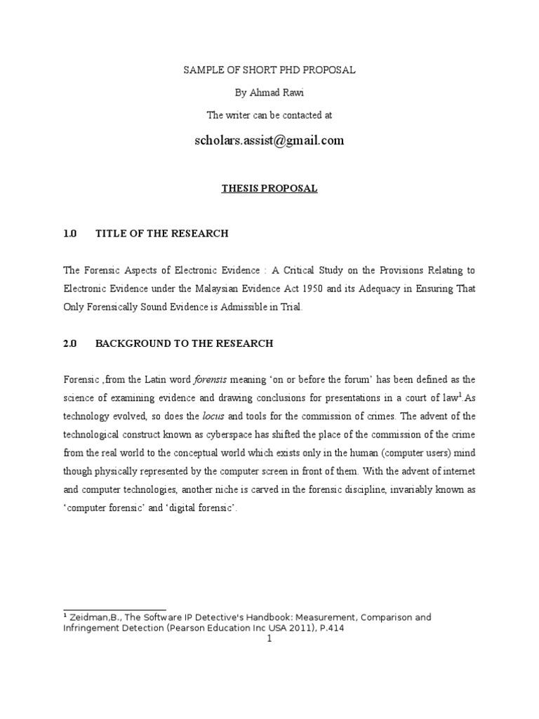 Phd thesis in digital forensics