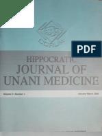 Management of Juvenile Rheumatoid Arthritis by Unani Medicine-A Case Study Published (Hippocratic Jr Un Med Vol 3 No 1)