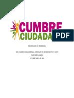 Concluisiones de Cumbre Ciudadana 2012