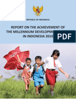 Report on MDG in Indonesia