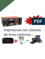 Impresoras con sistema de tinta continúo