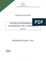 Manual SISI - Presupuesto 2010-2014