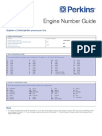 Perkins Engine Number Guide (UK)