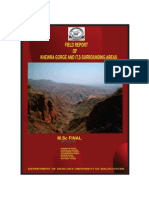 Field Report on Khewra Gorge and It,s Surrounding Areas