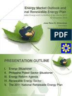 Philippine Energy Market Outlook and the National RE Plan_2010