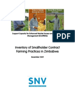 Inventory of Small Holder Contract Farming Practices in Zimbabwe