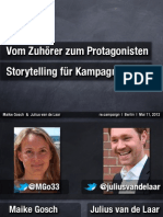 Storytelling für Kampagnen