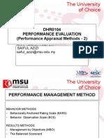 Chapter 4 - Performance Management Methods-2
