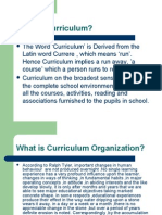 Designs of Curriculum Organization