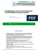 SAP DB2 Storage Layout