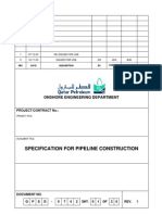QPED-9742R1 Pipe Line Construction