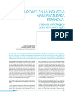 Outsourcing en la industria manufacturera española
