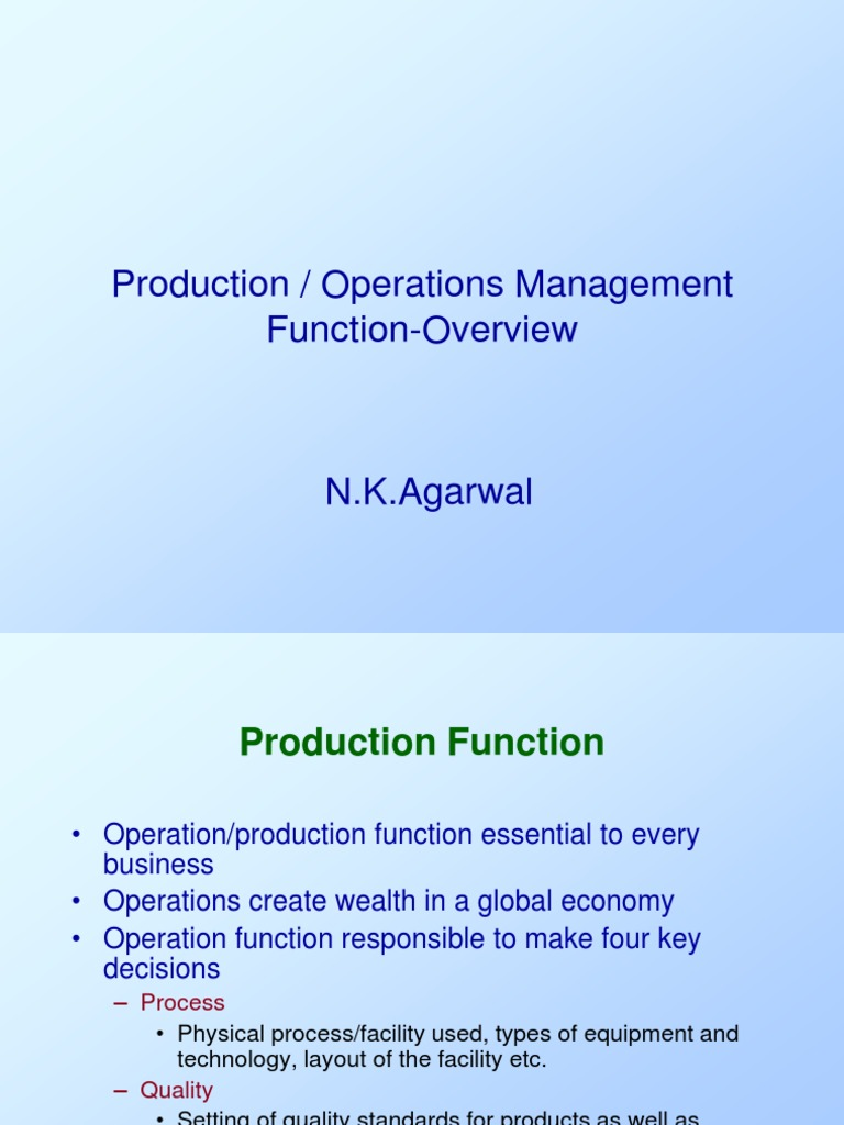 why is the production function useful for making business decisions