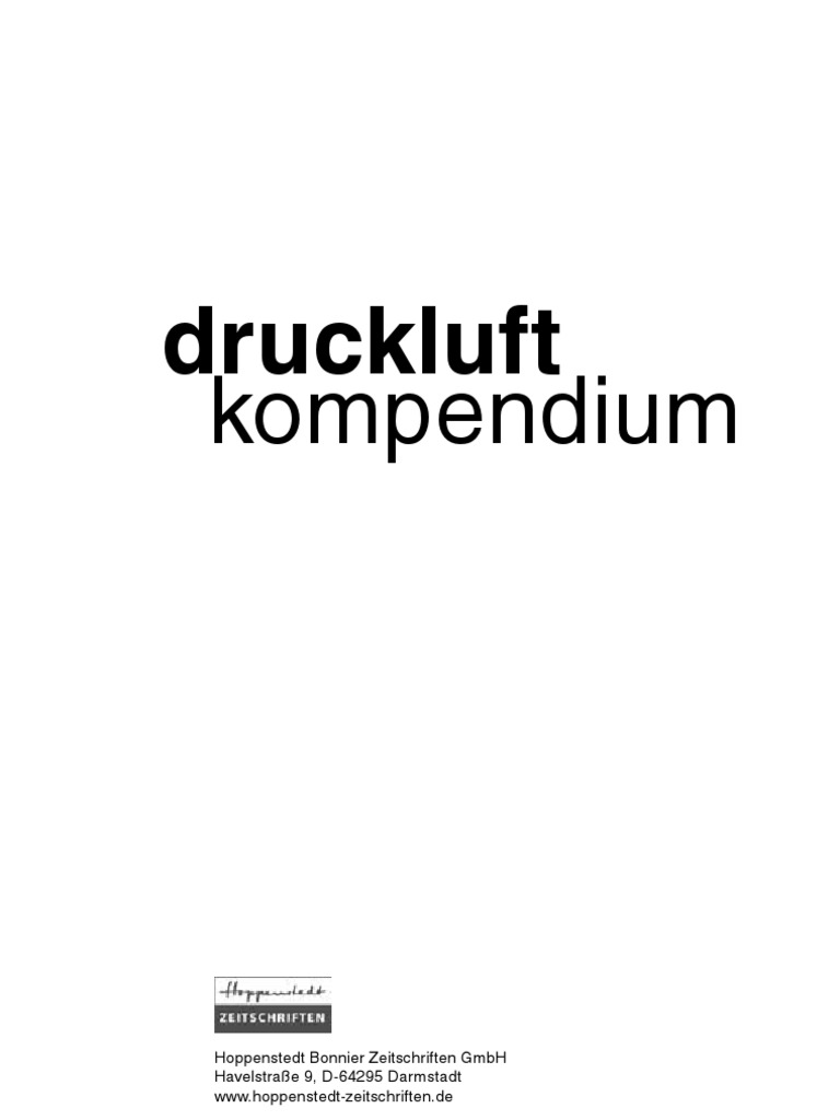 BOGE - Druckluftkompendium