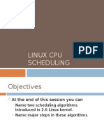 Linux Scheduling