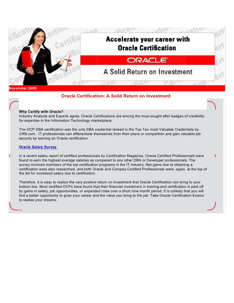 Certification Professional Certification Oracle Corporation