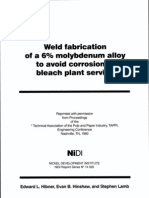 Weld Fabrication of a 6% Molybdenum Alloy to Avoid Corrosion in Bleach Plant Service