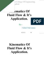 Kinematics of Fluid Flow Its Application
