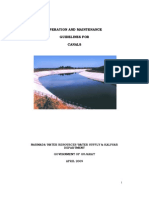 Manual for Canal Maintenance Operation