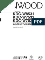 Manual Kenwood KDC W7031