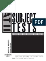 57435667 SAT II Subject Tests