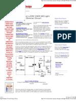 Light Dimmer Circuit Using a Triac
